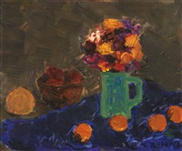 green jug and deep blue cloth by william goodridge roberts