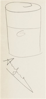 untitled (soup can) by andy warhol