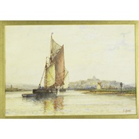 sailboat and sailboat (2 works) by frederick james aldridge