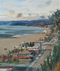 view of the coast santa monica by larry cohen