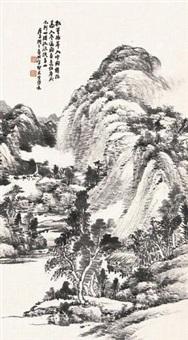 溪山水阁图 by xiao junxian