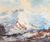 le mont blanc vu du mont joly (mont d'arbois) by paul angé nocquet