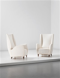 armchairs (from a private commission, milan) (pair) by gio ponti