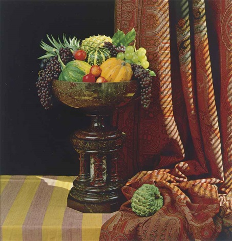 fruit and urn by robert mapplethorpe
