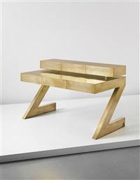 rare z desk with drawer unit by gabriella crespi