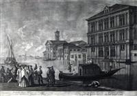 prospectus palatii grimani ad canalem magnam by bernhard vogel