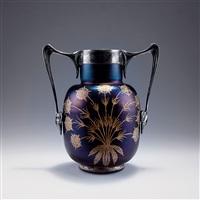vase mit versilberter montierung by gräfliche harrach'sche glasfabrik (co.)
