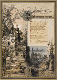diverse zeichnungen (4 works) by hermann vogel