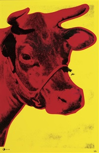 cow by andy warhol