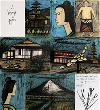 le voyage au japon (100 works) by bernard buffet