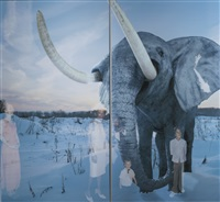 mammoth (from the window series) by oleg kulik