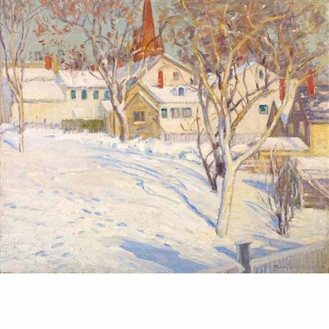 town hill ipswich winter sunlight by theodore wendel