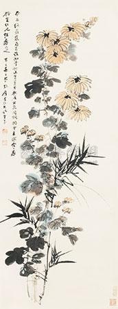 双清图 by zhang daqian