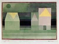 drei hauser grun-violette stufung (troi maisons gradation vert-violet) by paul klee