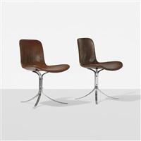 pk 9 chairs (pair) by poul kjaerholm