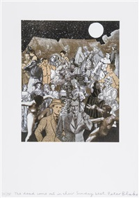 the dead come out in their sunday best by peter blake