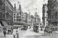london street scene by joshua fisher