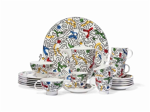 spirit of art coffee service set of 16 by keith haring