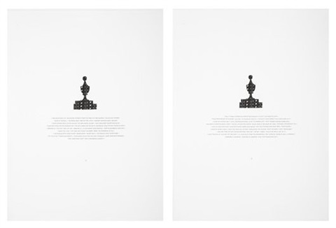 the last thing you remember was staring at the little white tile hers his 2 works by matthew brannon