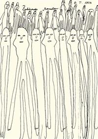 zuhörende menschen by oswald tschirtner