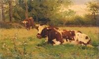 vaches dans le pré by léon barillot