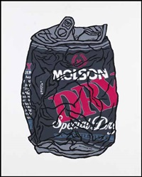 crushed can (molson dry) by gu xiong