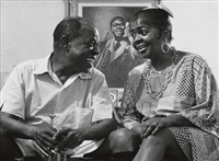louis armstrong and his wife, lucille by eddie adams