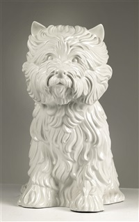 puppy, vase by jeff koons