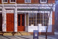 depiction of frenchtown buildings by john foster