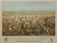 custer's last flight (after cassily adams) by f. otto becker