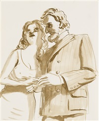 lovers in the country by john currin