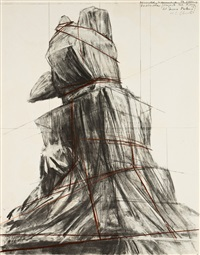 wrapped monument to vittorio emanuele, project for piazza del duomo, milan by christo and jeanne-claude