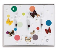 happiness (from the physical impossibility of death in the mind of someone living) by damien hirst