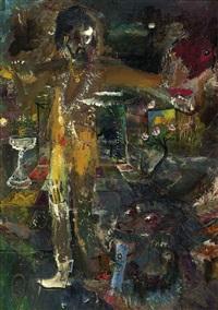 the artist in his studio by s. sudjojono