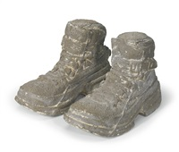 concrete boots (in 2 parts) by sarah lucas