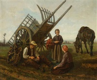 le repos des paysans by charles edouard frère