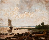 view from the shore by fyodor alexandrovich vasil'yev