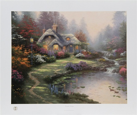 everetts cottage by thomas kinkade