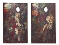 palette still lifes (pair) by alexis kreyder