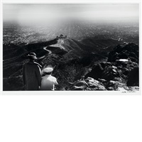 looking over griffith observatory and los angeles from mount hollywood by julius shulman