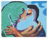 tristan kissing isolde by david hockney