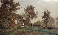 a farm in oosterbeek by johannes hubertus leonardus de haas and paul joseph constantin gabriel