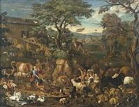 zug der tiere in die arche noah by carl borromaus andreas ruthart