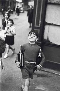rue mouffetard, 1954 by henri cartier-bresson