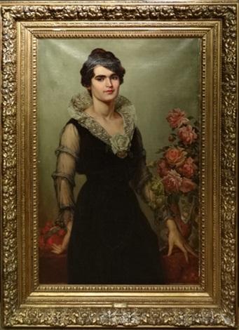 portrait de dame by alfred stevens