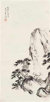 风景 立轴 水墨纸本 by huang junbi