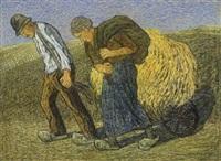 oogstend boerenpaar by cornelis albert van assendelft