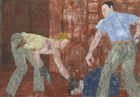 white squad x by leon golub
