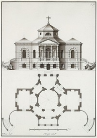 architectural drawings (pair) by william kent