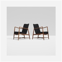 fireplace lounge chairs (pair) by finn juhl